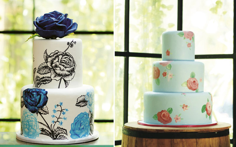 painted printed cake