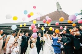 Hendry & Melissa Lie's Black & White Colors Wedding Party, in JW Marriot Kuningan