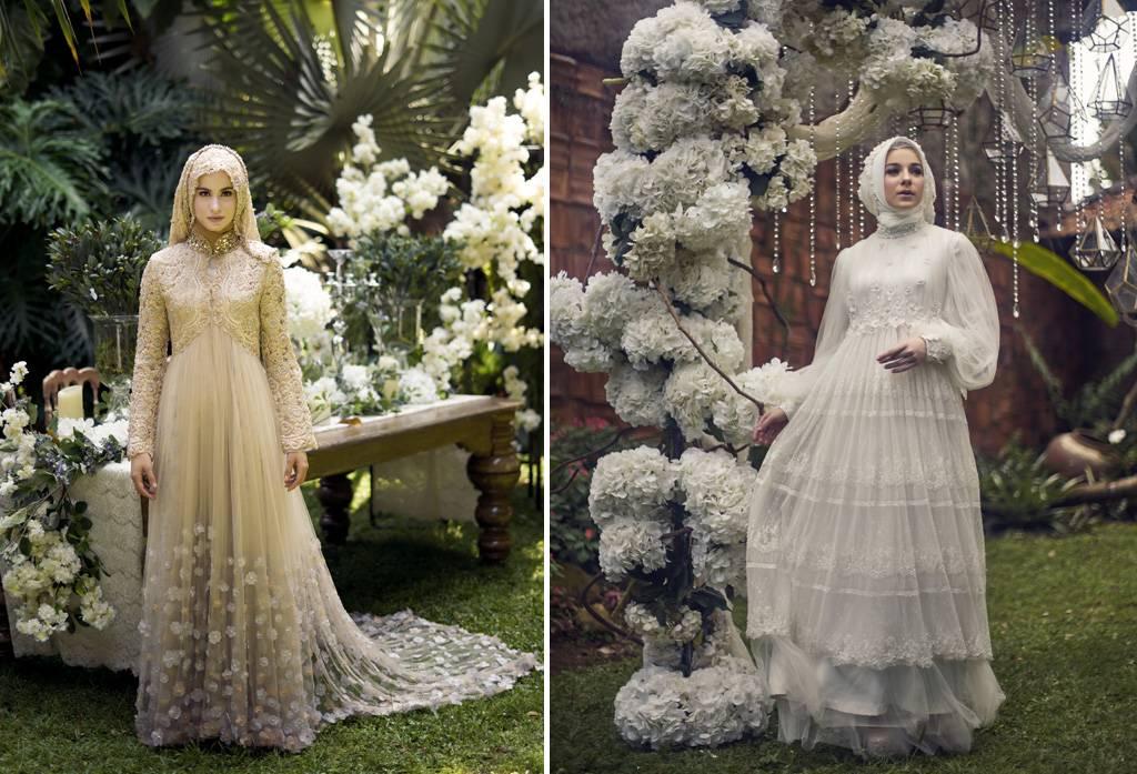 Busana Pengantin Muslim Yang Nyaman Untuk Pernikahan Outdoor