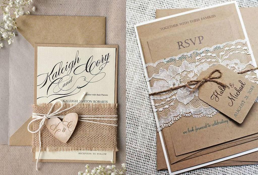 Kenali Ciri Undangan Bertema Rustic Weddingkucom