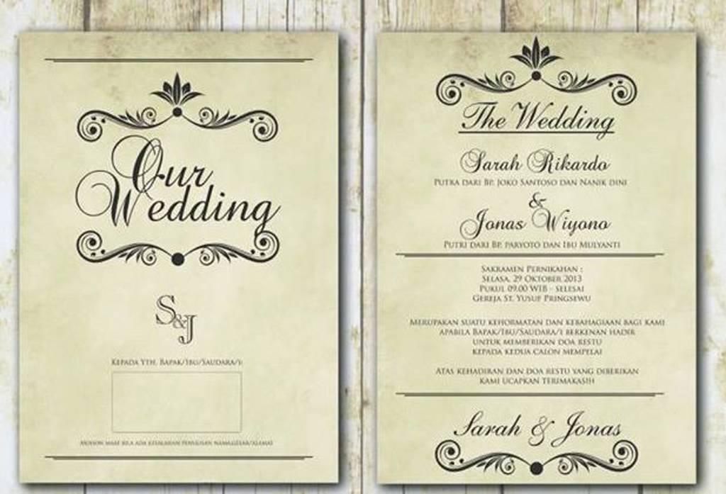 Etika Dalam Undangan Pernikahan Weddingku Com