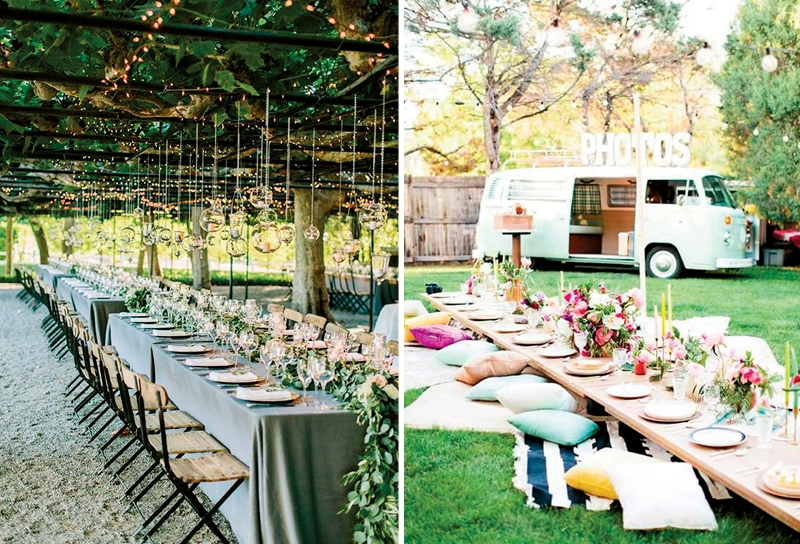6 Themes For Super Cool Outdoor Wedding Party Weddingku Com