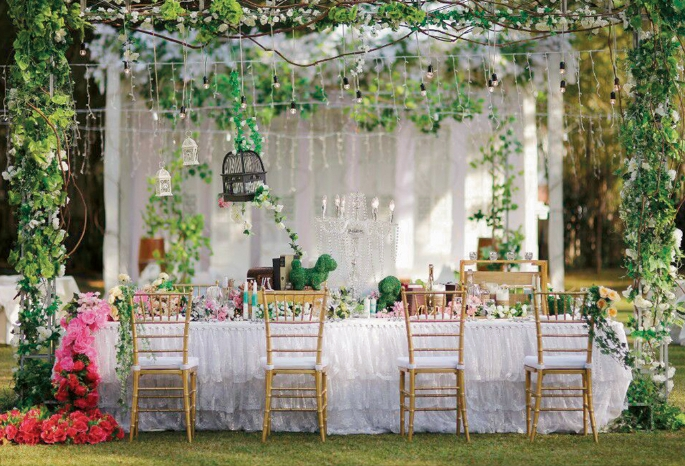 Perfect Wedding Garden Party - Weddingku.com