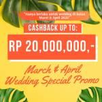 March & April Special Wedding Promo