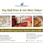 PAY HALF PRICE & GET MORE VALUE WITH OUR VOUCHER