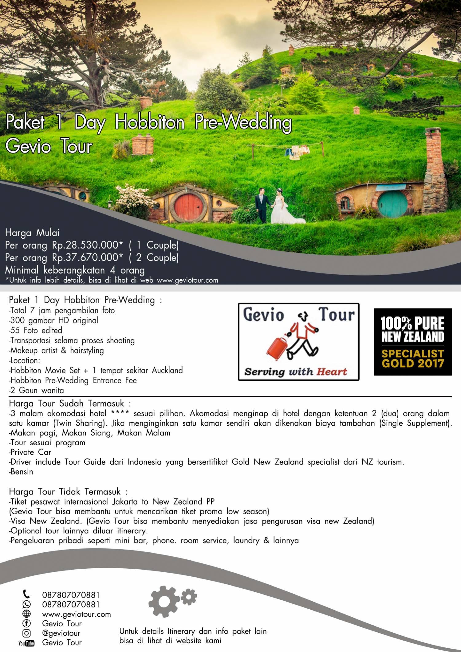 Detail Paket Wedding Photographer New Zealand Pre Wedding Photo Tour
