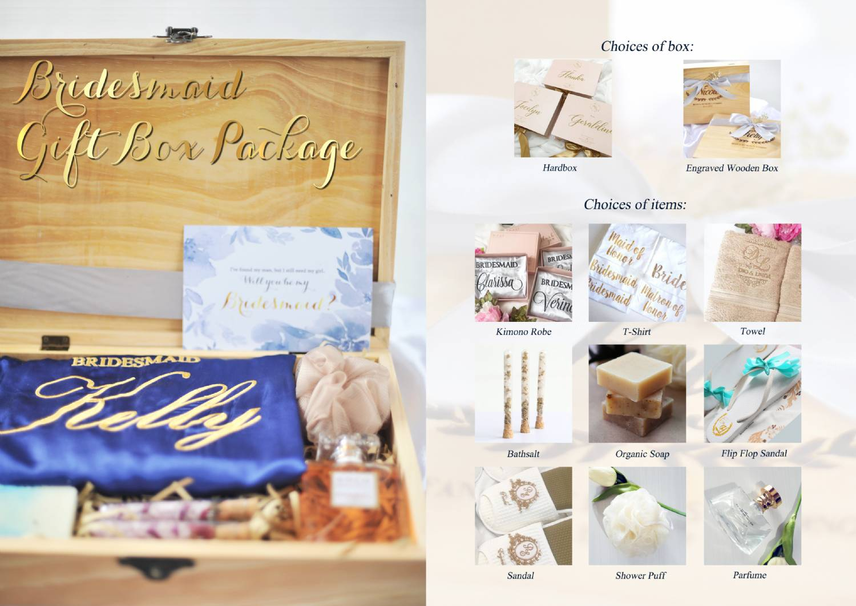 Bridesmaid / Maid of Honor Kit Set