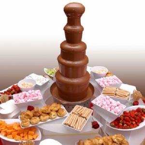 Sweet dessert & Chocolate Fountain