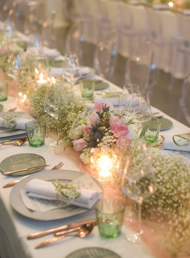 Dekorasi meja makan