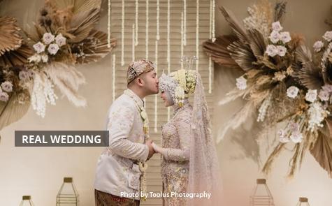 Akad Nikah dan Makan Malam Romantis Pernikahan Kesha Ratuliu dan Adhi Permana