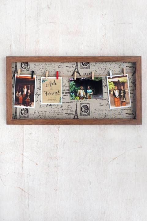 Vintage Dark Wood Collage Frame 30 cm x 60 cm