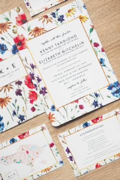 Pressed White Board Invites