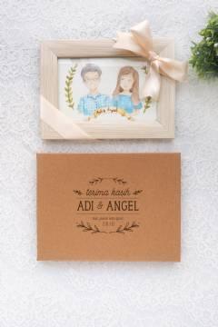 Paket Frame & Paper Frame Box (Cream Wooden Frame)