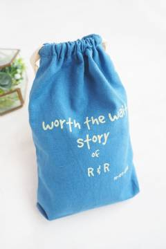 Baby Canvas Drawstring Pouch