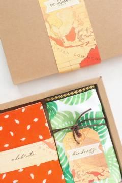 Weddingku Batik Notes & Printed Canvas Pouch