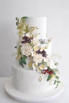 Cream and Lace Wedding Cake 3 Tier Special Packages