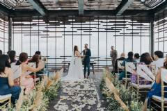Intimate Sunset Wedding at Sunset Temple Terrace