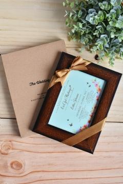 Paket Frame & Paper Frame Box (Brown Frame)